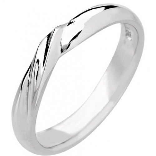 Shaped Wedding Ring 3mm (R501) - All Metals