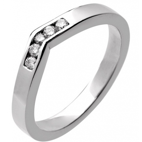 Shaped Wedding Ring 2.8mm (R931.DI5) - All Metals