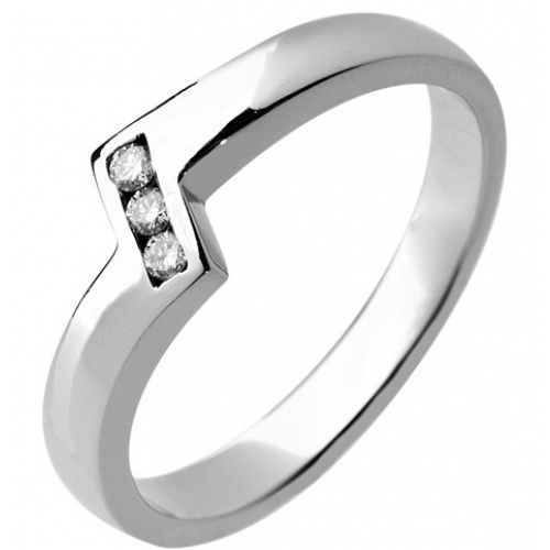 Shaped Wedding Ring 2.7mm (R935.DI3) - All Metals