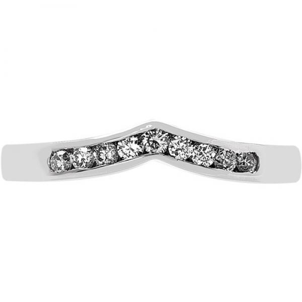 18ct white gold shaped wedding ring 18 r939 di 9