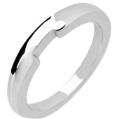 Palladium Plain Wedding Rings - Shaped - Hallmark 950