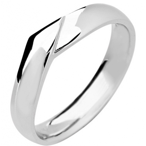 Shaped Wedding Ring 4mm (R974) - All Metals