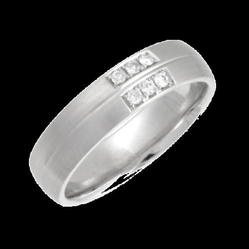 Diamond Rings - Platinum Diamond Wedding Ring width 5mm