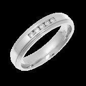 Platinum Diamond Wedding Ring 4mm