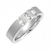 Platinum Diamond Wedding Ring 5mm