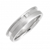Platinum Diamond Wedding Ring 6mm