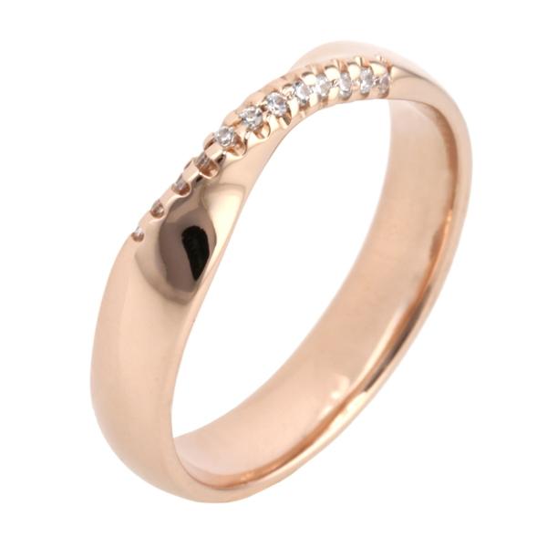 Shaped Diamond Wedding Ring 18R1190di12 18ct Rose Gold 18R1190di12
