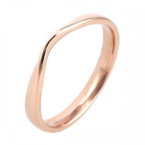 Shaped Wedding Ring (18R1195) 18ct Rose Gold