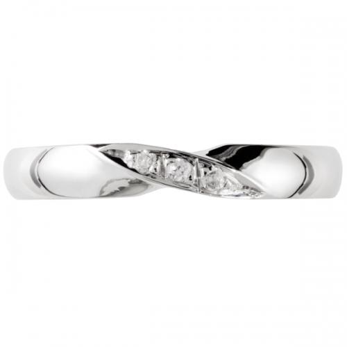 Shaped Wedding Ring 3mm (R1238DI3) - All Metals