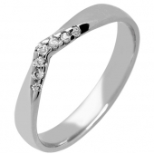 9ct Gold Diamond Wedding Rings - Shaped