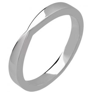 Palladium  Shaped Wedding Ring Width 2.5mm
