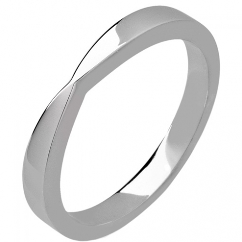 Shaped Wedding Ring Width 2.5mm (PR1172) Platinum