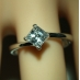 18ct White Gold 0.30 Carat Diamond Engagement Ring Fast Delivery
