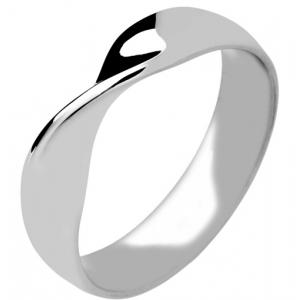 9ct White Gold Wedding Rings Plain Shaped