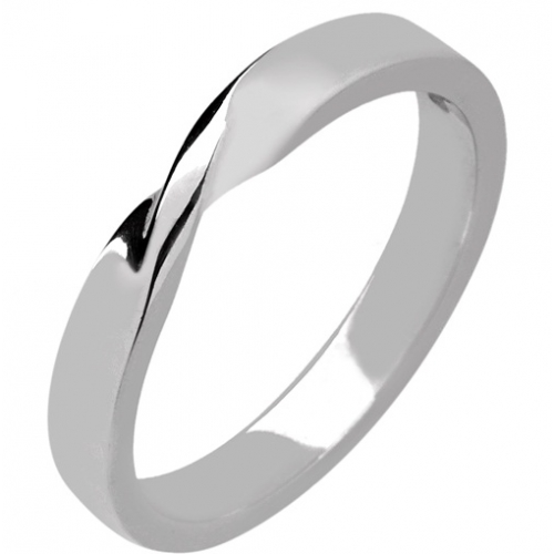 Shaped Wedding Ring 3mm (R993) - All Metals
