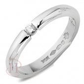 18ct White Gold Diamond Wedding Rings