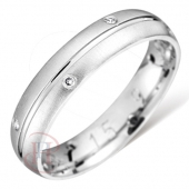 Palladium Wedding Rings Diamond Inlaid - Hallmark 950