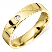 9ct Yellow Gold Diamond Wedding Rings