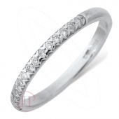 9ct White Gold Diamond Wedding Ring Width 2mm