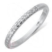 9ct White Gold Diamond Wedding Ring Width 2mm
