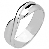 Shaped Wedding Ring 5mm (9R058) 9ct White Gold