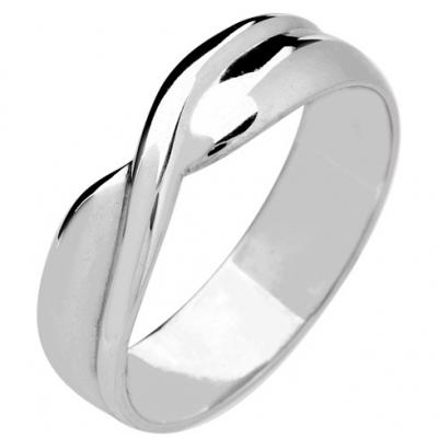 Palladium Designer Shaped Wedding Ring Width 5mm