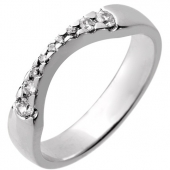 Platinum Shaped Diamond Wedding Ring