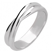 Shaped Wedding Ring 5mm (9R160) 9ct White Gold
