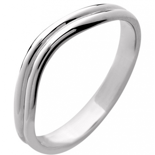 Shaped Wedding Ring 2.7mm platinum special