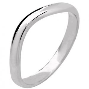 Palladium Designer Shaped Wedding Ring Width 3mm