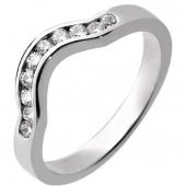Platinum Diamond Shaped Wedding Ring