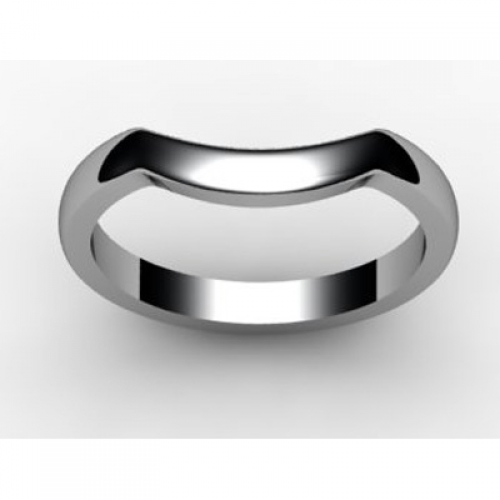 Shaped Wedding Ring Width 2.3mm - All Metals
