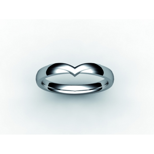 Shaped Wedding Ring Width 2.4mm -All Metals