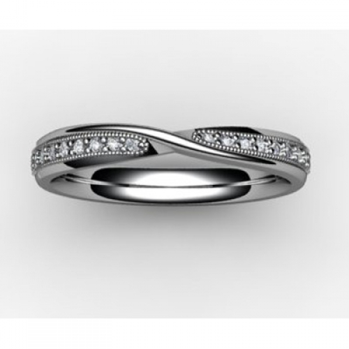 Shaped Wedding Ring (SW015) - All Metals