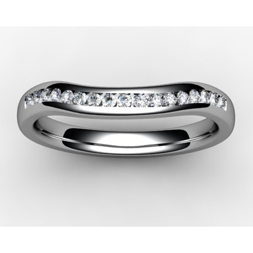 Shaped Wedding Ring Width 2mm (SW019) - All Metals