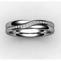 Shaped Wedding Ring (SW020) - All Metals
