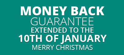 Read our 30 Day Money Back Guarantee