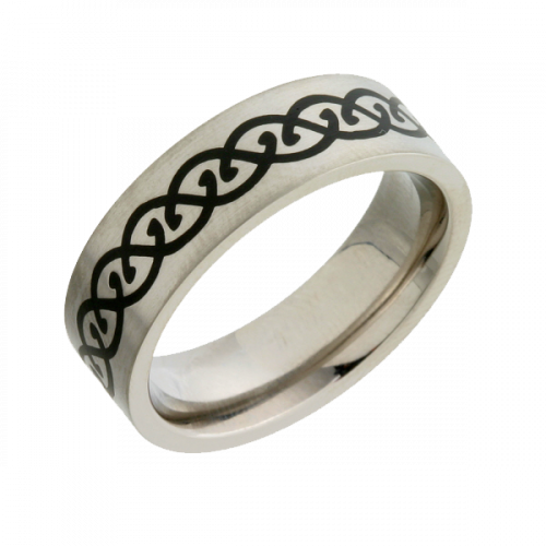 Enamel Inlaid (T14401-7) Titanium Wedding Ring