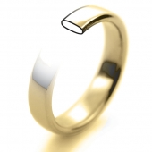 18ct Yellow Gold Wedding Rings - Plain Slight Court Profile