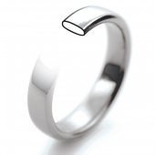 Palladium Wedding Rings 950 Hallmark - Slight Court Profile