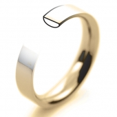 18ct Yellow Gold Wedding Rings - Plain Flat Court Profile