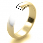 9ct Yellow Gold Wedding Rings - Plain D Profile