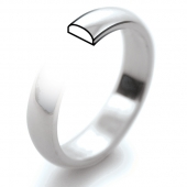 Palladium Wedding Rings 950 Hallmark - D Profile
