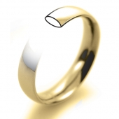 18ct Yellow Gold Wedding Rings - Plain Court Profile
