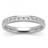 Platinum Half Eternity Ring - Grain Set