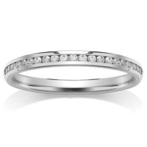 9ct White Gold Full Set Diamond Eternity Rings