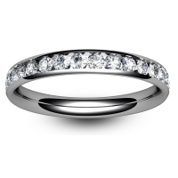 9ct White Gold Full Eternity Brilliant  Diamond  Ring