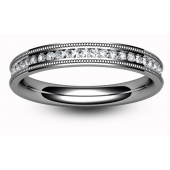 Platinum  Full Eternity Ring 0.50ct Brilliant Diamond - 2.8mm Band