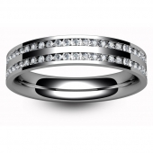 Palladium Half Eternity Ring - Brilliant Cut Diamond