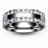 Platinum Full Eternity Brilliant  Diamond  Ring